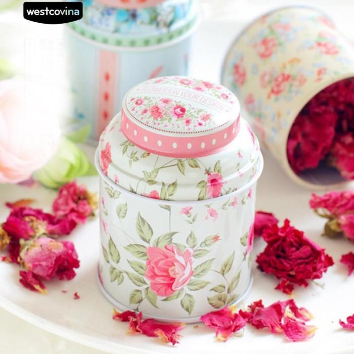 Foto Produk Bunga Cylinder Mini Tin Case Candy Tea Paket Container Storage Box dari Sinarmas17