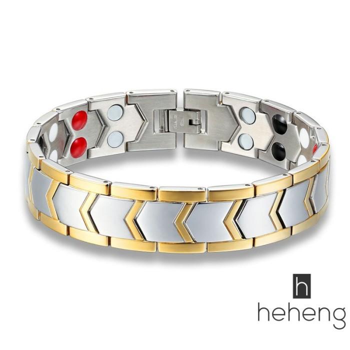 Foto Produk Gelang Kesehatan Magnetik Bahan Titanium Steel untuk Pria dari Riski shoppe