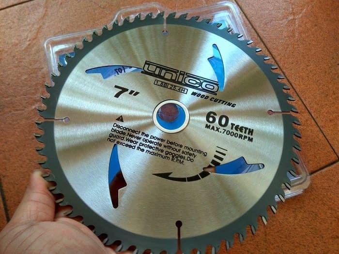 Foto Produk Mata Potong Gergaji Circular Saw Blade 7 Thin Kerf 60t Merk Unico dari Pancar Teknik