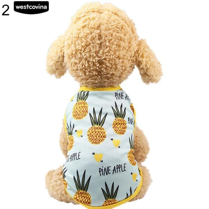 Foto Produk 🌿Indah Nanas Pet Dog Cat Dress / Vest Musim Panas Kostum Pakaian dari Sinarmas17