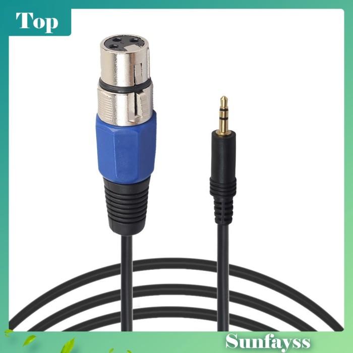 Foto Produk [Sun] Kabel Adapter Audio 9.84FT / 3M 3Pin XLR Female to 3.5mm TRS dari Ravamo Store