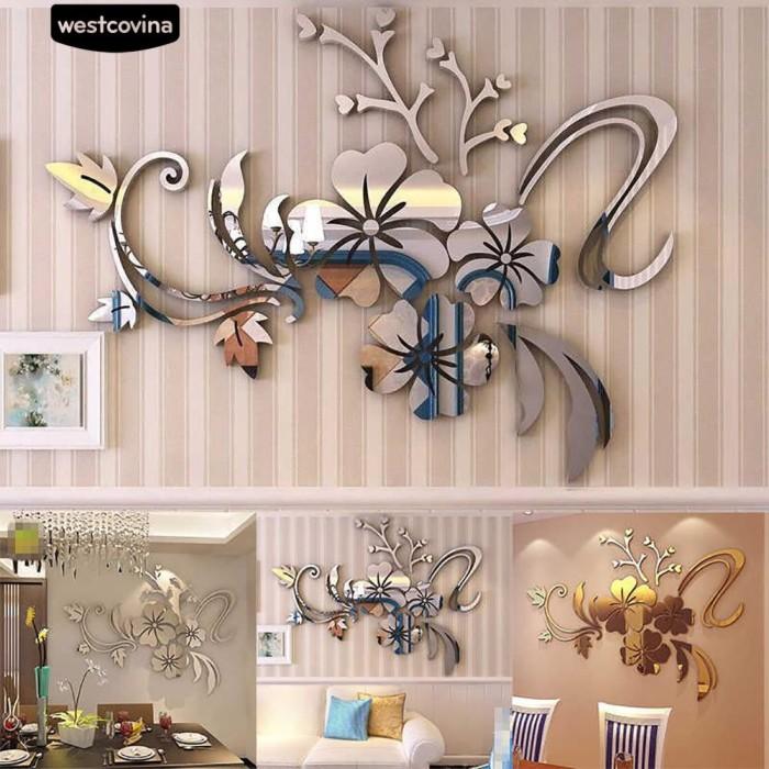 Foto Produk Stiker Dinding dengan Bahan Akrilik Mudah Dilepas dan Gambar Bunga dari Sinarmas17
