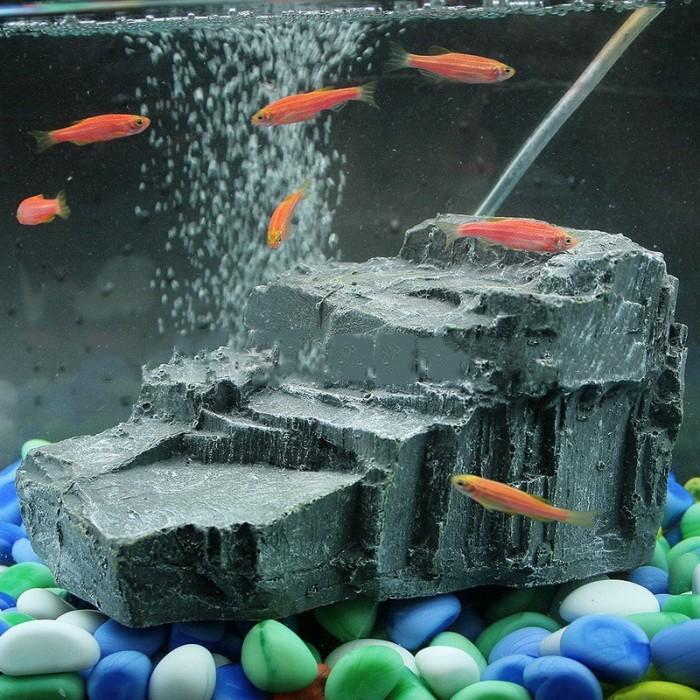 Foto Produk Aksesoris Akuarium: Teras Mengapung untuk Kura-Kura, Bahan Resin dari MUZORA