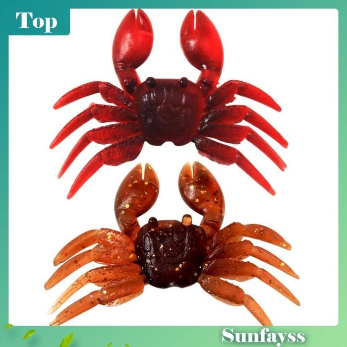 Foto Produk [sun] Lifelike 3D Crab 7.8g 8cm Soft PVC Artificial Fishing Lure dari Ravamo Store