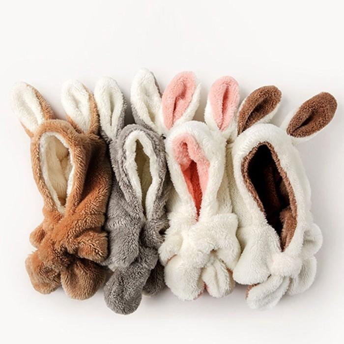 Foto Produk BBWORLD Baby Boys Girls Rabbit Ear Ski Caps Kids Scarf Ear Hat dari queenstore-33