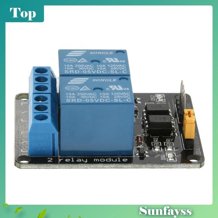 Foto Produk [Sun] Modul PLC Control Board Relay DC 5V 2 Way untuk Arduino dari Ravamo Store