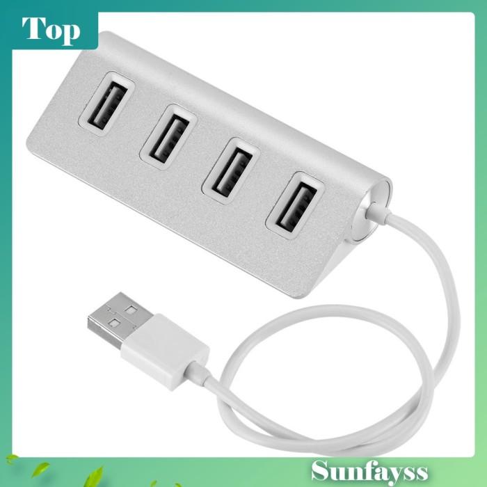 Foto Produk [Sun] Adapter Converter Splitter 4 Port USB 2.0 Super Speed Bahan dari Ravamo Store