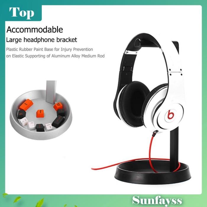 Foto Produk [Sun] Stand Holder Headphone Bahan Aluminium dari Ravamo Store