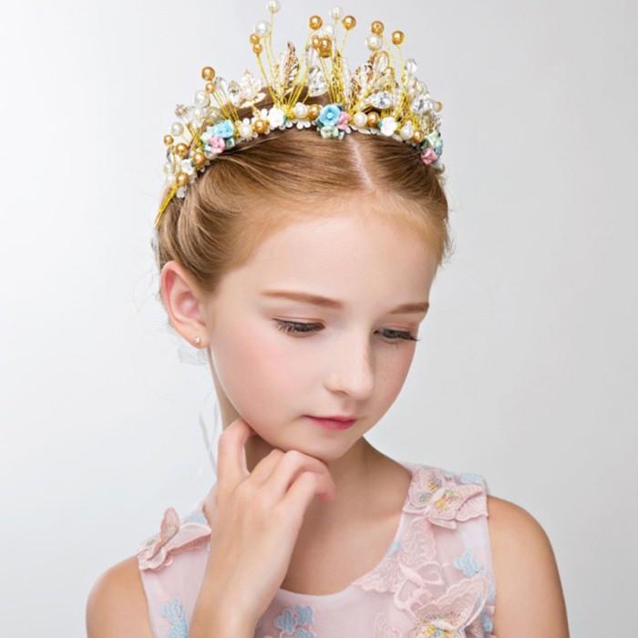 Foto Produk Mahkota Princess dengan Kristal untuk Perempuan dari queenstore-33