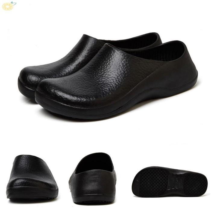 Foto Produk Sandal Selop Anti Air / Minyak Bahan EVA Warna Hitam untuk Dapur dari Ravamo Store