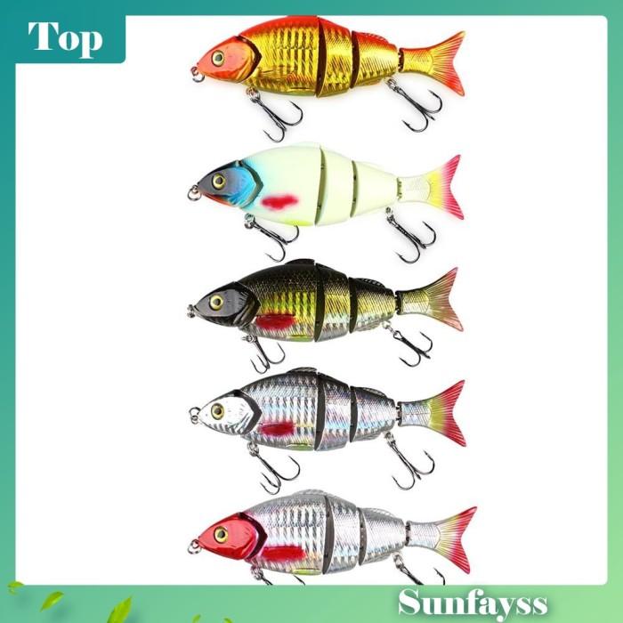 Foto Produk Umpan Kait VIB Multi Segmen Panjang Bentuk Ikan untuk Memancing dari Ravamo Store