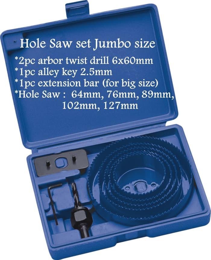 Foto Produk Hole Saw Set Jumbo C-mart Best Quality Mata Bor Lubang Hidroponik dari Pancar Teknik