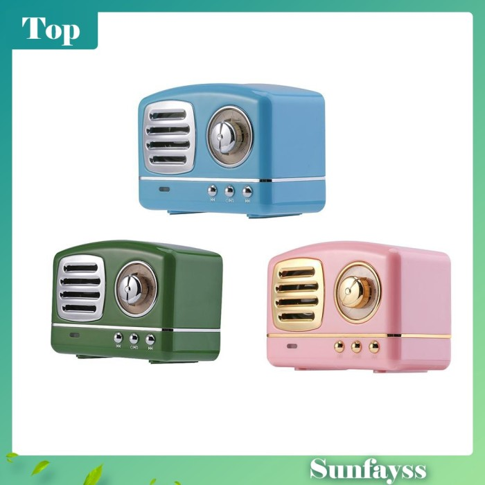 Foto Produk [Sun] Speaker Bluetooth Mini Vintage 3D Stereo Surround HIFI dari Ravamo Store