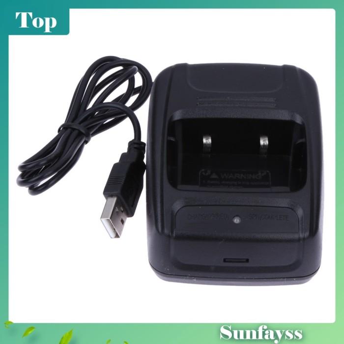 Foto Produk [Sun] Charger Baterai Li-ion 100-240V USB untuk Baofeng c.888s dari Ravamo Store