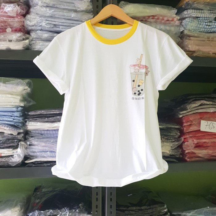 Foto Produk KODE : XL.027 Boba Tshirt (XL) - Putih dari fashion_tnabang
