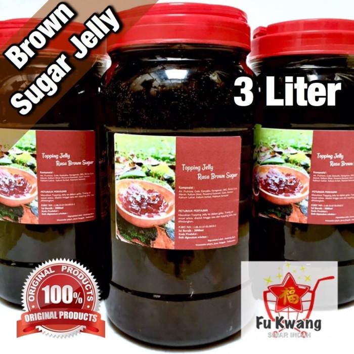 Foto Produk [Khusus Gosend] Brown Sugar Jelly 3 liter dari Fu Kwang Mart