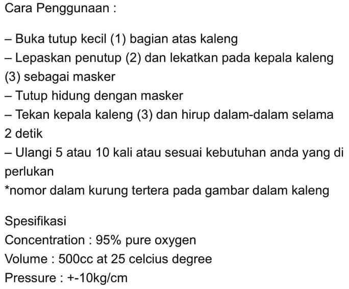 Jual Oxycan Oksigen Portable Tabung Oksigen Jakarta Barat Apoyshoop Tokopedia