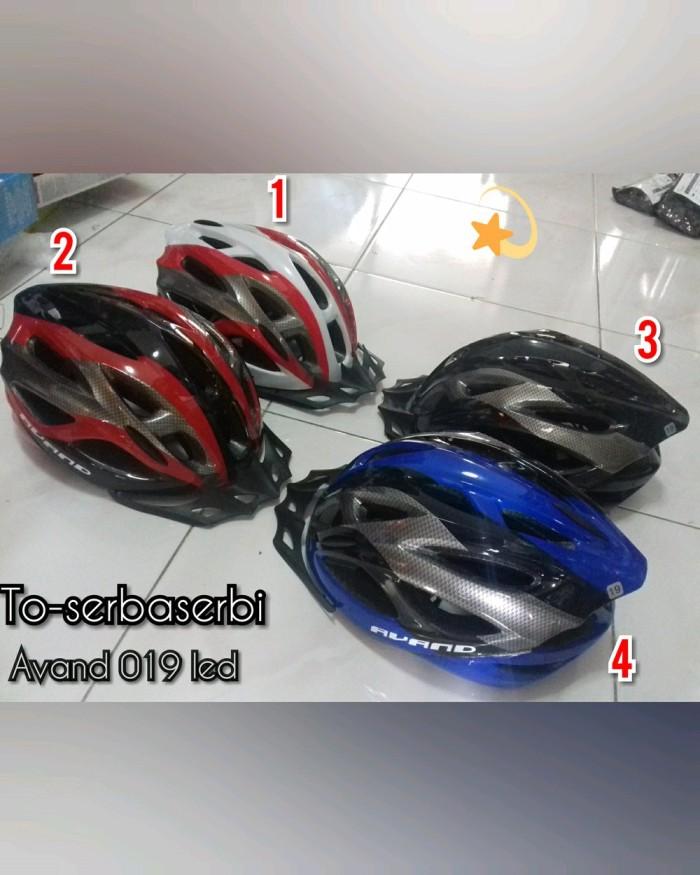 Foto Produk helm sepeda lampu led avand 019 led united avand bicycle helmet dari damastore2020
