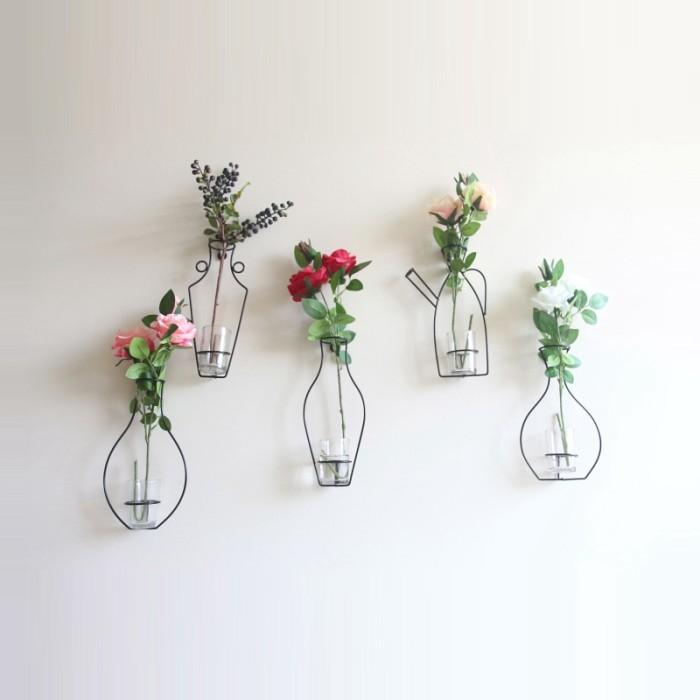 Jual Wall Decor Home Decoration Retro Iron Line Flowers Vase Metal Plant Jakarta Selatan Ipollut Shop Tokopedia