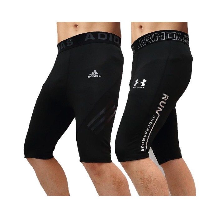Jual Oppa Style Shop Premium Celana Legging Sport Pendek Cowok Pria Gym Fit Jakarta Barat Lone Pants Tokopedia