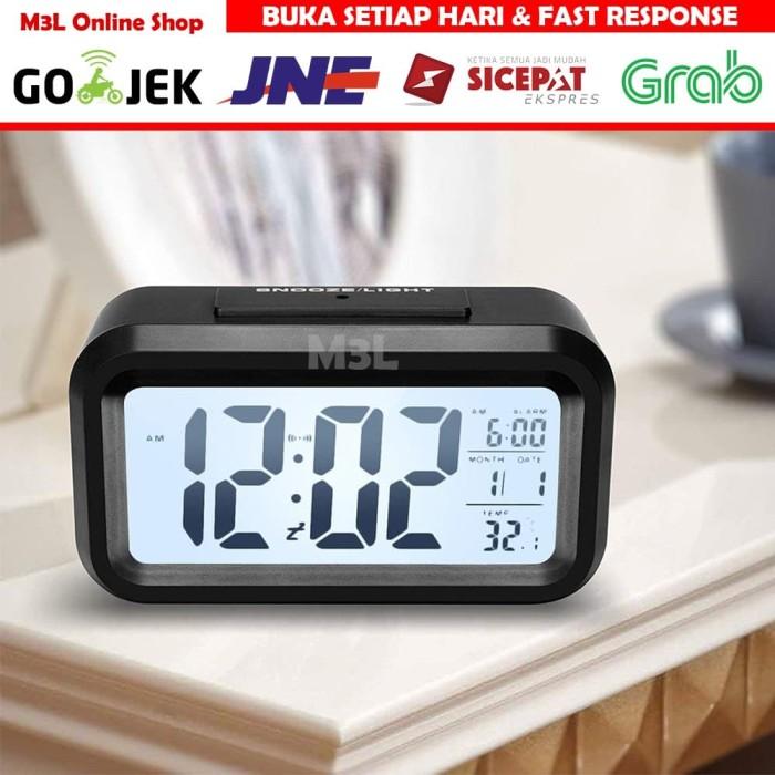 Foto Produk Jam Meja Digital / Jam Weker Pintar / Digital Smart Alarm Clock - Hitam dari M3L