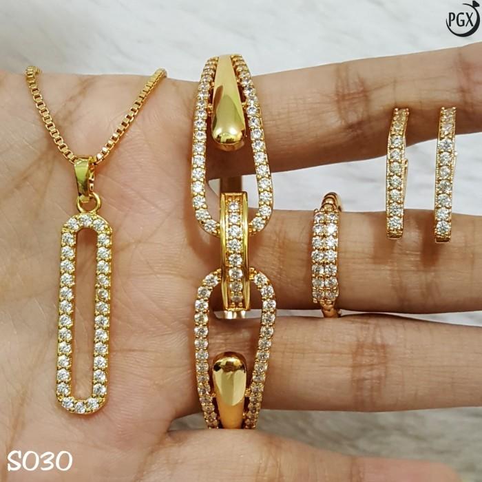 Set Perhiasan Xuping Lapis Emas Terbaru - S030 - Pusat ...