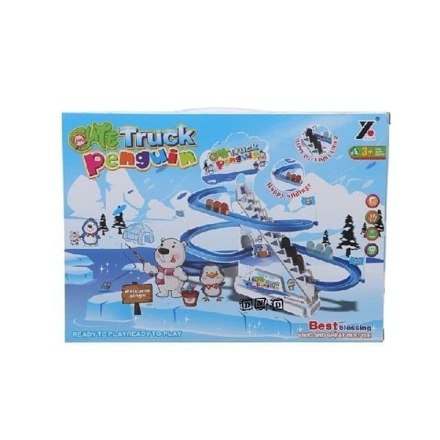 Foto Produk Mainan Anak - Cute Truck Penguin Track Set Seluncuran Slider Ladder dari Toko DnD