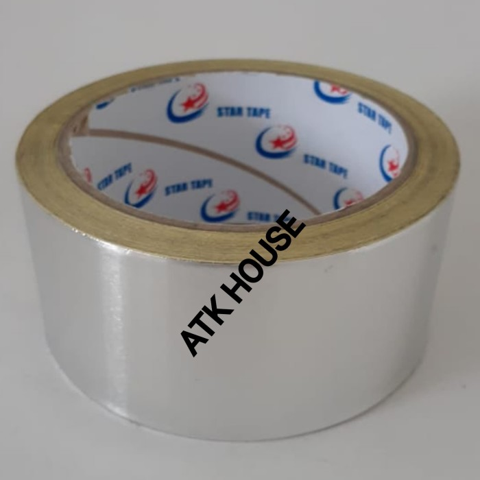 Foto Produk Lakban Alumunium Foil Tape 48mmx15m/Solasi Almunium Aluminium Tape 2in dari ATK HOUSE