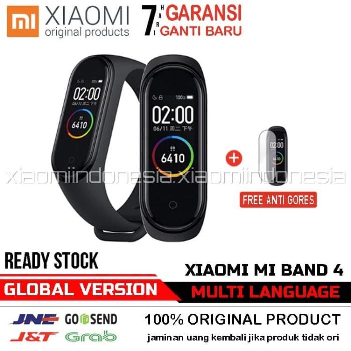 Foto Produk Xiaomi Mi Band 4 OLED SmartBand Original + Free Anti Gores - Hitam, Global Version dari Xiaomi.Indonesia