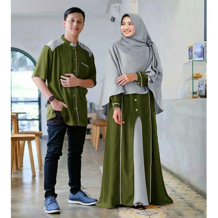 Jual Couple Tiano Couple Baju Muslim Couple Family Fashion Terbaru Hijau Jakarta Utara Sun Oshop Tokopedia