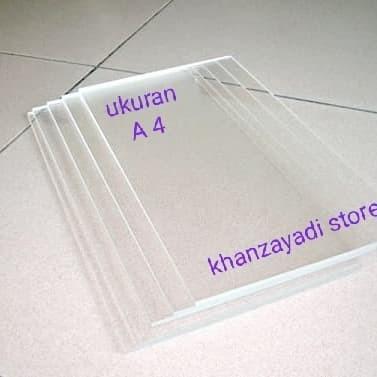 Foto Produk akrilik lembaran acrylic sheet ukuran A4 tebal 2 mm bening transparan dari khanzayadi store