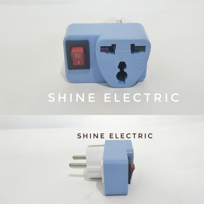 Foto Produk Steker stopkontak stop kontak serbaguna saklar switch SNI kaki 2 3 dari ShineElectric
