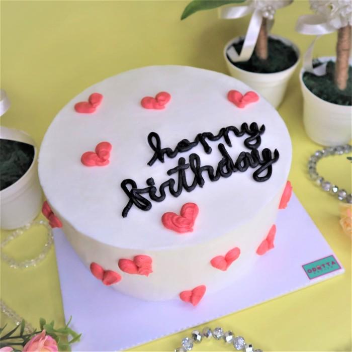 "Jual ""Hearty Love"" Birthday Cake / Kue Ulang Tahun"