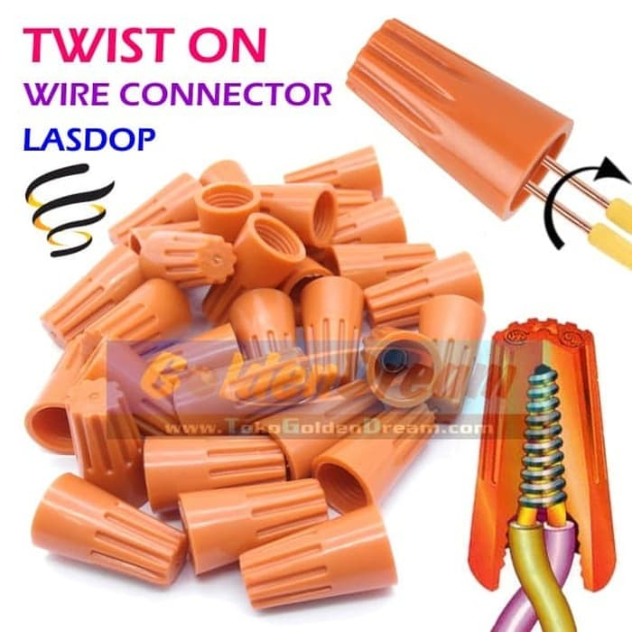 Foto Produk Twist On Wire Connector Sambungan Kabel Putar Screw Lasdop Terminal P - P1 dari VISITEK