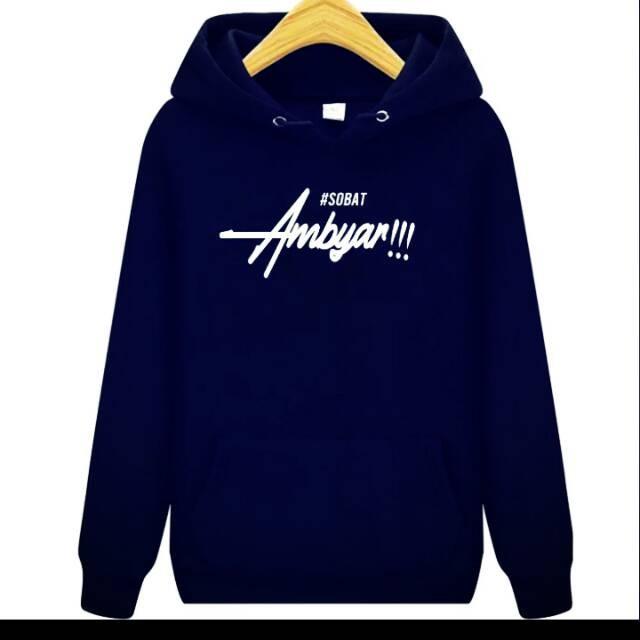 Jual Discount Jaket Sweater Hoodie Navy Sobat Ambyar Jakarta