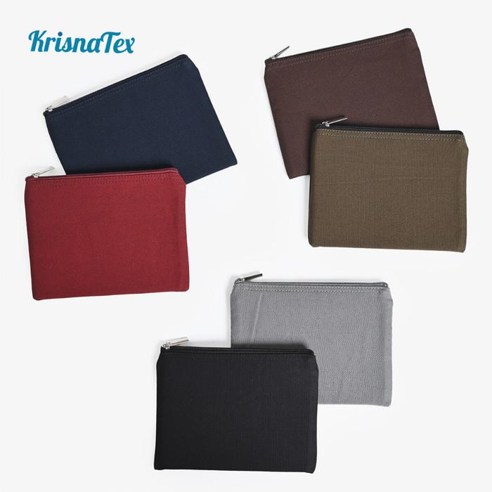 Foto Produk Pouch Zipper Canvas Polos Kecil ( Dompet resleting kanvas ) - Putih dari KrisnaTex