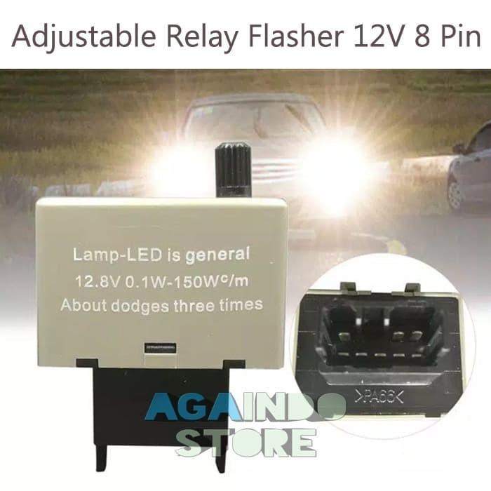 Jual Relay Flasher Led 8 Pin Adjustable Lampu Sein Mobil