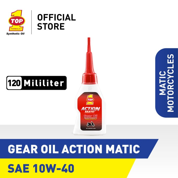 Foto Produk Pelumas Roda Gigi/gear TOP 1 GEAR OIL ACTION MATIC HONDA | 120 mL dari TOP1 Store