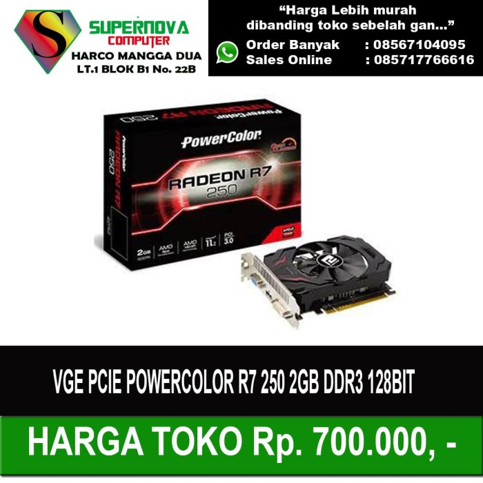 Foto Produk VGA POWERCOLOR R7 250 2GB DDR3 128BIT dari Supernova Computer Ariet