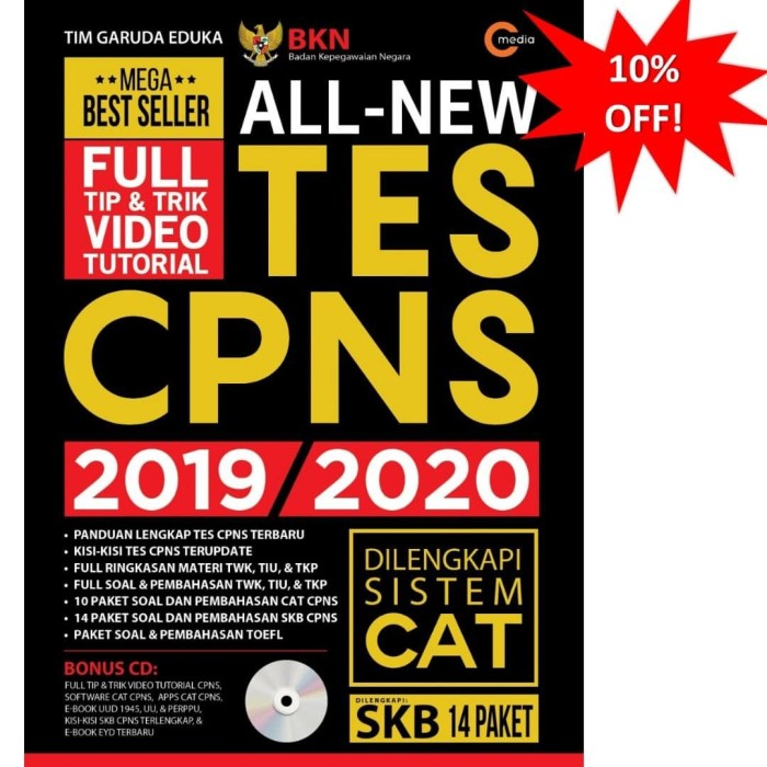 Foto Produk ALL NEW TES CPNS 2019-2020 dari Toko Kutu Buku