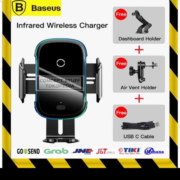 Foto Produk Car Charger Baseus / Baseus Qi Wireless charger / charger mobil dari Klaus-Shops