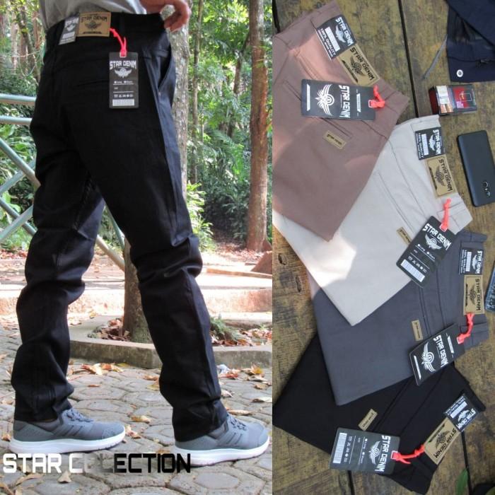 Foto Produk Celana chino pria / celana cinos big size STAR DENIM 36/44 - Hitam dari playjeans