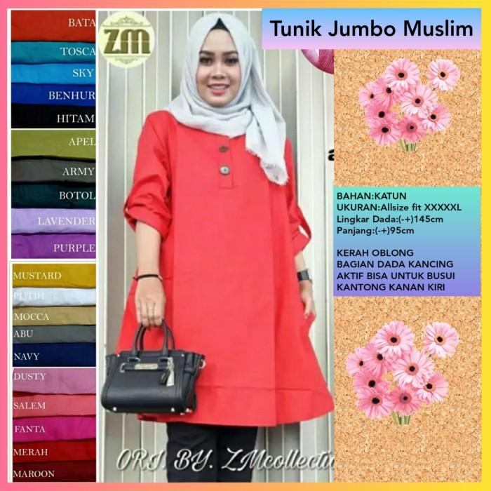 Jual Baju Atasan Wanita Blouse Muslim Super Jumbo Xxxxxl Busui Tunik Mustar Kota Bandung Sarung Tenun Bandung Tokopedia