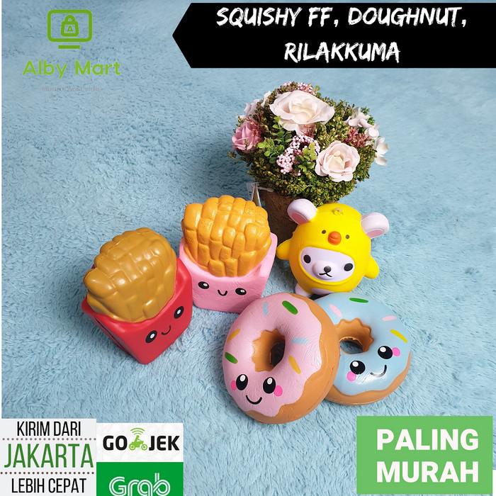 Foto Produk Squishy Rilakkuma, Doughtnut, Kentang Goreng Cute Import Slow Rising dari cabokimurah