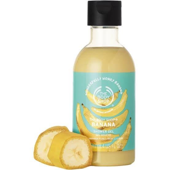 Foto Produk The Body Shop BANANA Shower Cream 250ml - Body Wash - Sabun Mandi dari NicaSan Shop