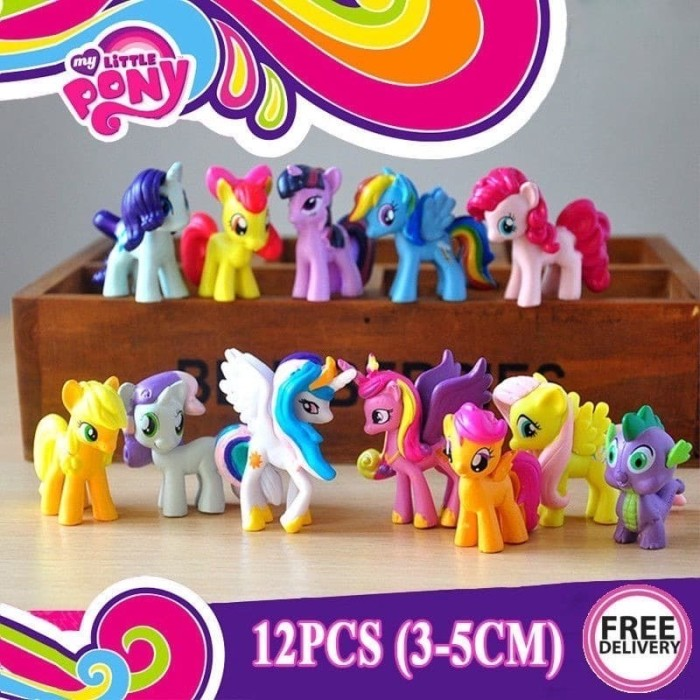 Jual Topper Figure My Little Pony Set isi 12 / Figure Set