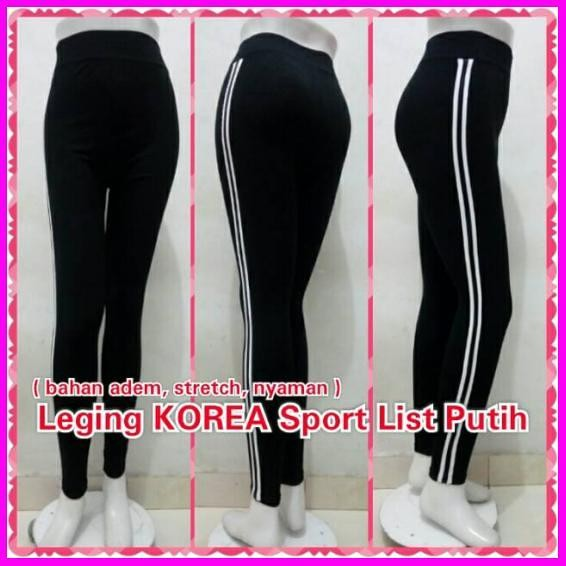 Jual Celana Leging Korea Sport List Aerobic Panjang Legging Putih Jakarta Selatan Alamsyahjaya Tokopedia