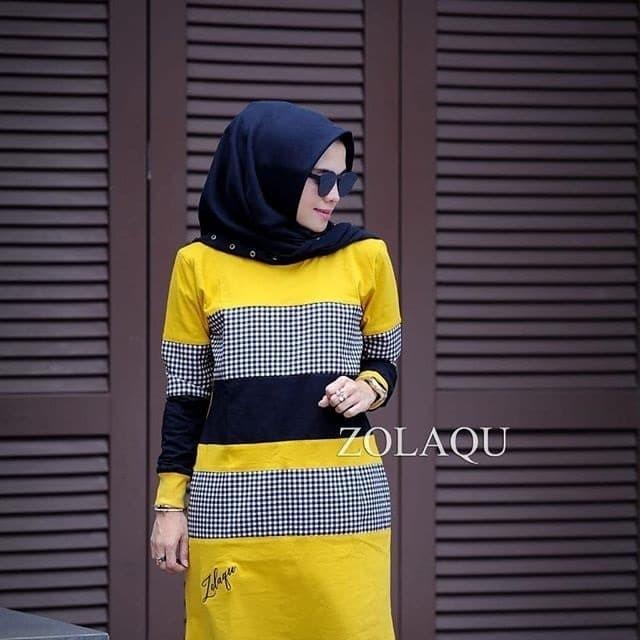 Foto Produk Baju Atasan Wanita Baju Inna Tunik Wollycrepe Murah Terbaru dari Grosir Hijabers