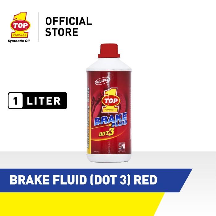 Foto Produk Minyak Rem TOP 1 BRAKE FLUID (DOT 3) RED   1 Liter dari TOP1 Store