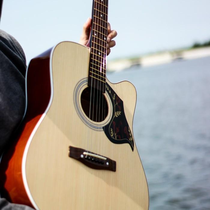 Foto Produk Gitar akustik yamaha F500 Natural bonus tas dari JakartaUndercover.id